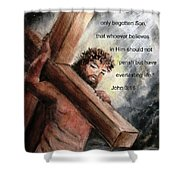 God So Loved The World Shower Curtain