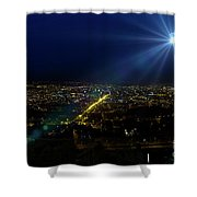 God Loves Cuenca Shower Curtain