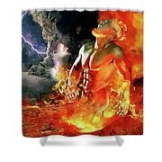 God Of Fire Shower Curtain