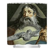 God The Father Shower Curtain