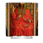 God The Father Shower Curtain by Hubert and Jan Van Eyck