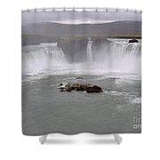 Godafoss, Iceland Shower Curtain