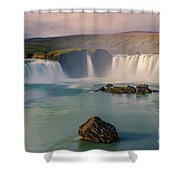 Godafoss In Iceland Shower Curtain