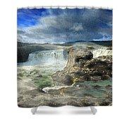 Godafoss Waterfall Iceland Shower Curtain