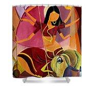 Goddess Durga Shower Curtain