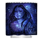 Goddess In Blue Shower Curtain