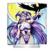 Goddess Morrigan Shower Curtain