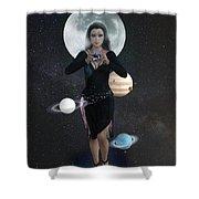 Goddess Nyx Shower Curtain