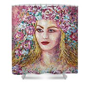 Goddess Of Good Fortune Shower Curtain