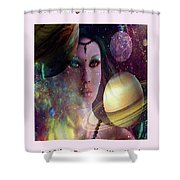 Goddess Of Planets Shower Curtain