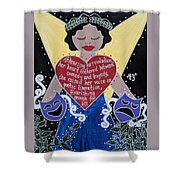 Goddess Of The Arts Shower Curtain