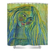 Goddess Of The North Sea Shower Curtain