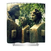 Goddess Statues Shower Curtain
