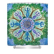 Goddesses Dancing Shower Curtain