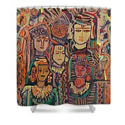 Gods And Angels Shower Curtain