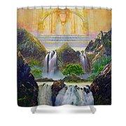 God's Holy Hill Shower Curtain