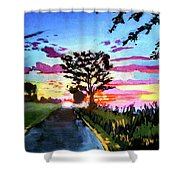 God's On Booe Road Shower Curtain