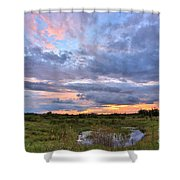 God's Painting Shower Curtain