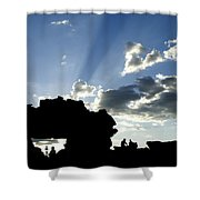 God's Rays At La Fenetre Shower Curtain