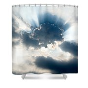 Gods Rays Shower Curtain