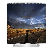 God's Sign Shower Curtain