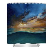 God's Wave Of Love Shower Curtain
