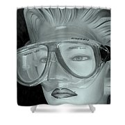 Goggle Me Shower Curtain