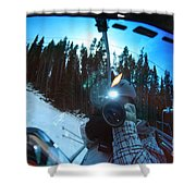 Goggle Selfie Shower Curtain