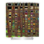 Going And Going Abstract Shower Curtain