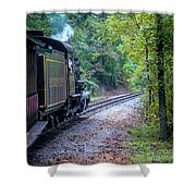 Going Around The Bend Shower Curtain