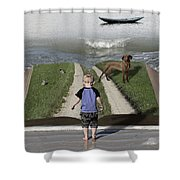 Going Back Home Shower Curtain