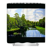 Going Down The St John's River Shower Curtain