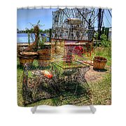 Going Fishing? Shower Curtain