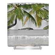 Going Green To Save Paradise Shower Curtain