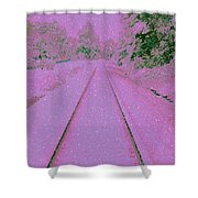 Going Home For Christmas Shower Curtain
