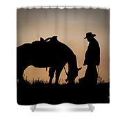 Going Home Shower Curtain by Sandra Bronstein