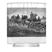 Going Into Battle - Civil War Shower Curtain