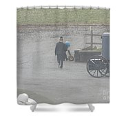 Going Out To Play Ball Shower Curtain