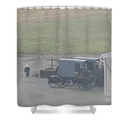 Going Out To The Barn Shower Curtain