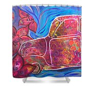 Going Someplace Pretty Shower Curtain