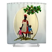 Going To School Shower Curtain