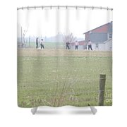 Going To The Barn Shower Curtain