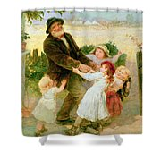 Going To The Fair Shower Curtain by Frederick Morgan