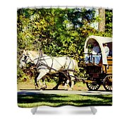 Going To Town Shower Curtain