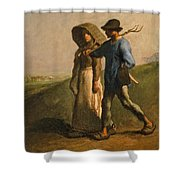 Going To Work Shower Curtain