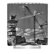 Going Up Midtown Atlanta Construction Art Shower Curtain