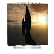 Going Vertical Shower Curtain