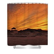 Gold Above Them Thar Dunes Shower Curtain