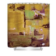 Gold Abstract Shower Curtain
