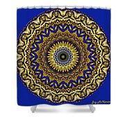 Gold And Sapphires  Shower Curtain
